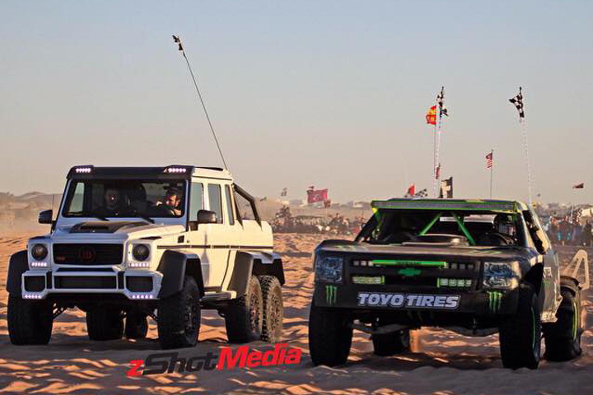 Dan Bilzerian Takes His Brabus G63 6x6 to Glamis Sand Dunes