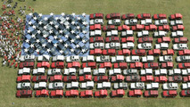 140 Jeep Vehicles in Giant American Flag Formation