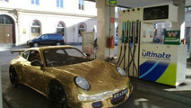Gold Porsche 911 cardboard edition revisited - hits 10mph