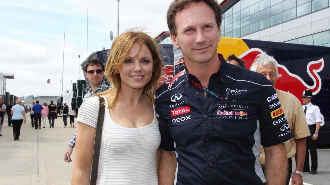 Geri Halliwell with Christian Horner