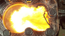 Engine combustion in HD slow motion is violently beautiful