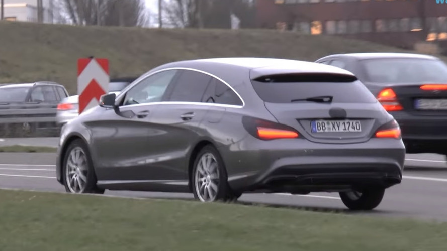 Barely disguised Mercedes CLA & CLA Shooting Brake spied [videos]
