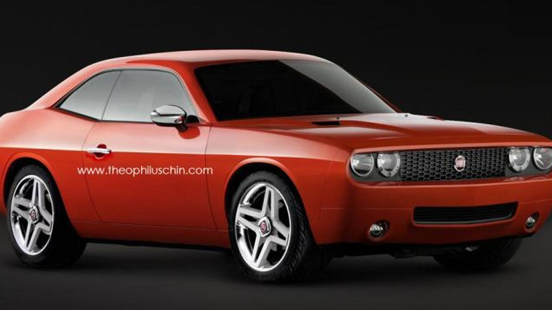 Fiat 128 Sport Coupe resurrected through Dodge Challenger based rendering