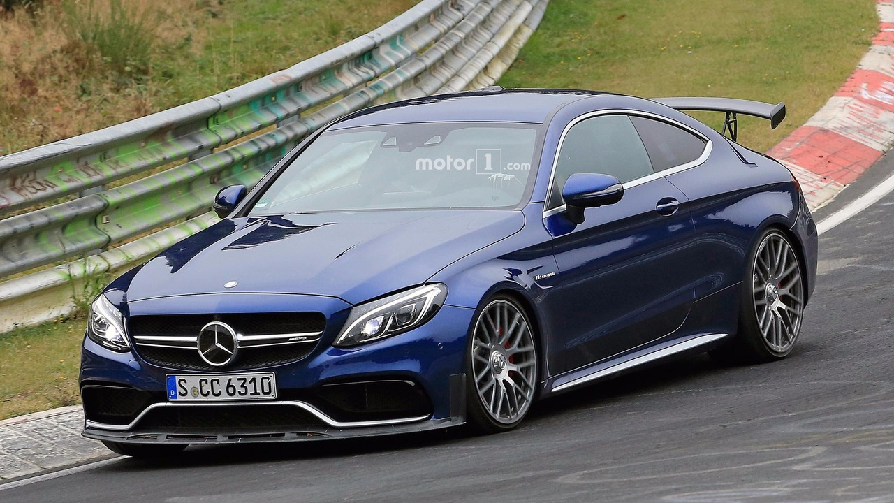 Mercedes amg c63 r coupe spied for the first time for How much is a mercedes benz c63 amg