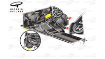 McLaren MP4/31 endplates comparison, Barcelona