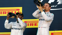 Podium: winner Nico Rosberg, Mercedes AMG F1 Team, second place Lewis Hamilton
