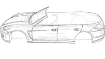 Porsche Panamera convertible Patent Drawing