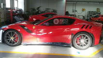 Ferrari F12tdf spotted in the metal right before delivery