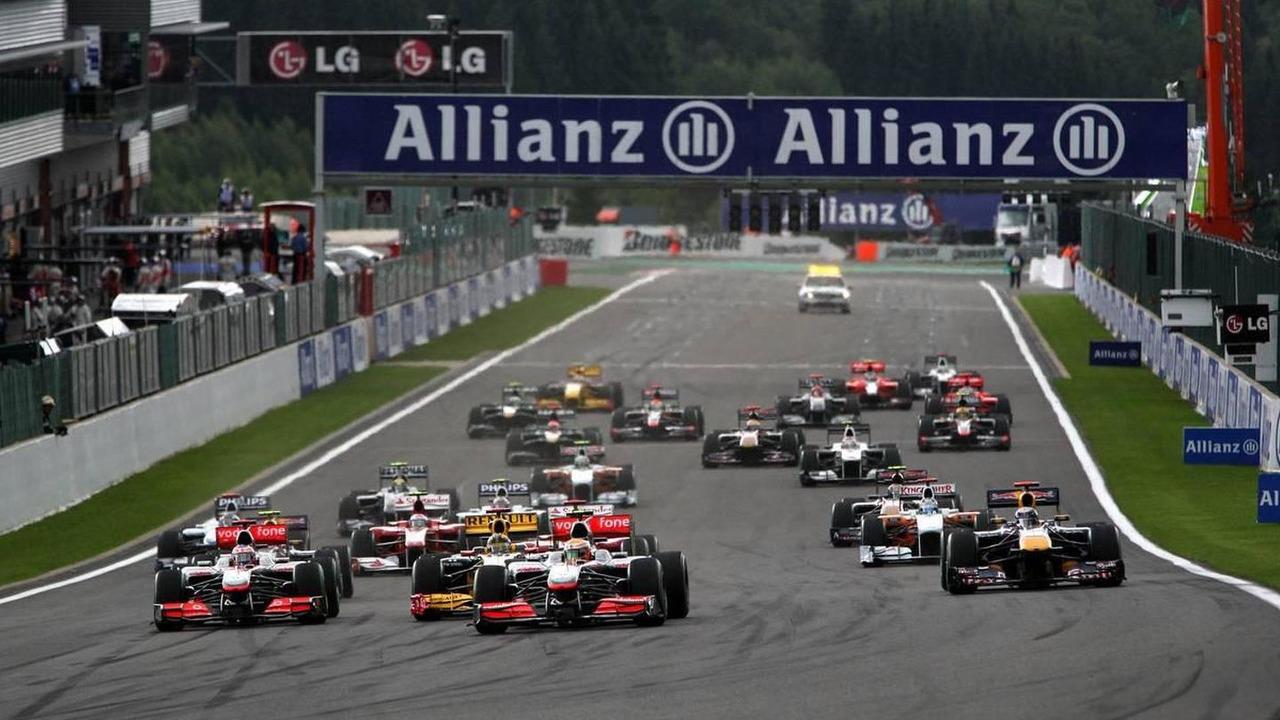 Lewis Hamilton (GBR), McLaren Mercedes leads at the start - Formula 1 World Championship, Rd 13, Belgian Grand Prix, Sunday Race, 29.08.2010 Spa, Belgium