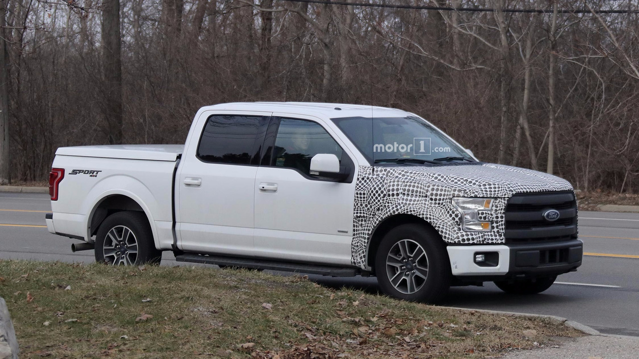ford f 150 plug in hybrid spied testing on the road. Black Bedroom Furniture Sets. Home Design Ideas