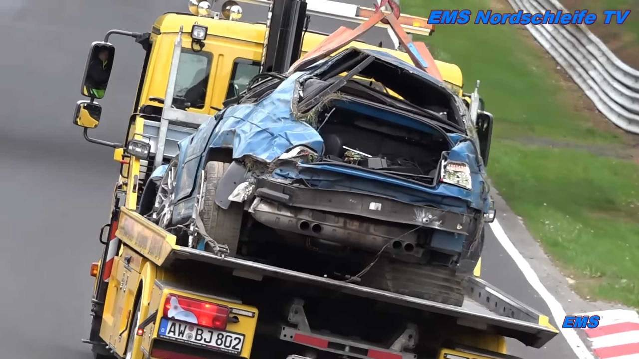 Nürburgring Wrecked Cars 2017 Compilation | Motor1.com Photos
