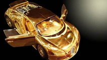 Solid Gold Diamond encrusted Bugatti Veyron 1:18 Scale Model