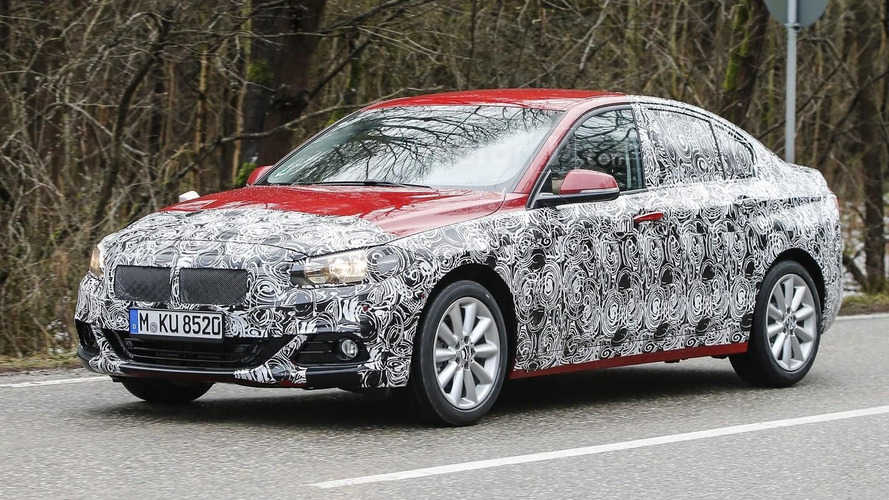 BMW 1 Series Sedan drops some camo in latest spy pics