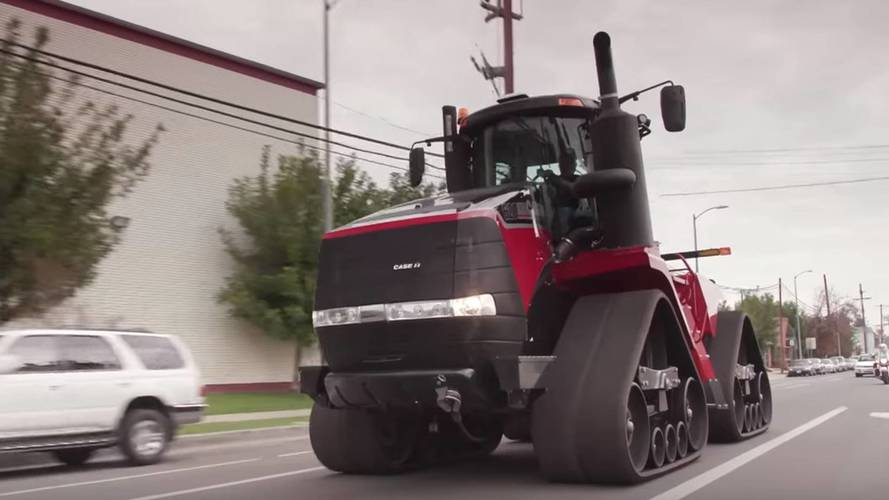 Jay Leno Drives The Case IH Quadtrac Tractor