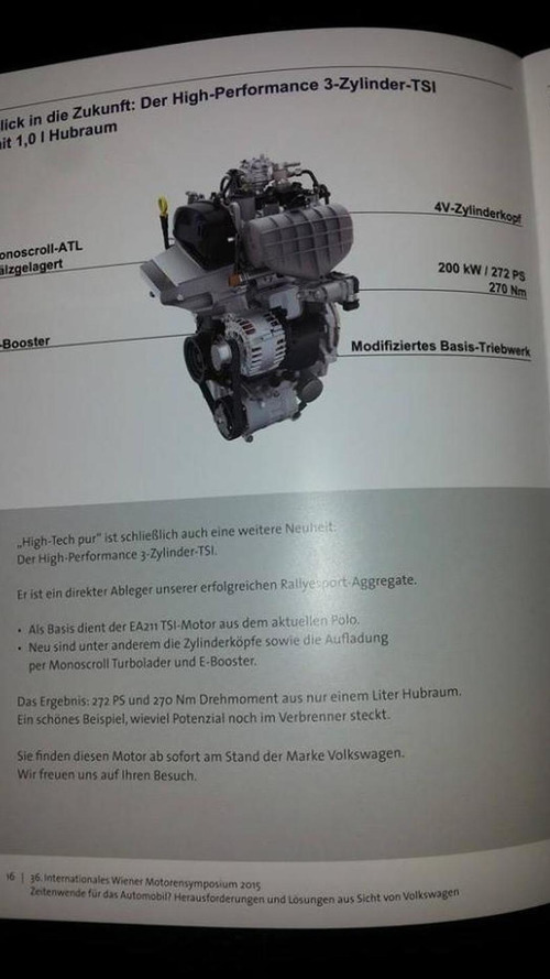Volkswagen introduces high-performance 3-cylinder 1.0 engine with 272 PS