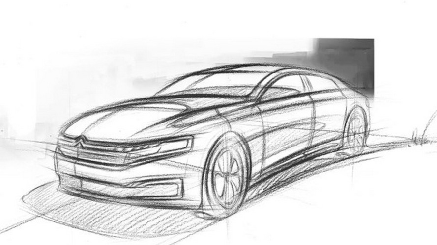Citroën sketches out new C6 for China