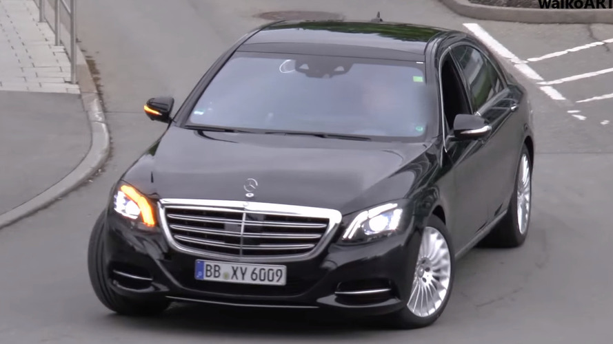 Mercedes S-Class facelift loses some camo in new spy video