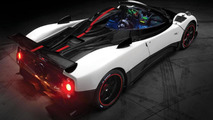 Pagani Zonda Cinque Roadster Modifed black and white with red line in the middle