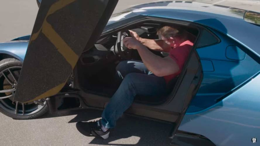 John Cena Barely Fits Into The 2017 Ford GT