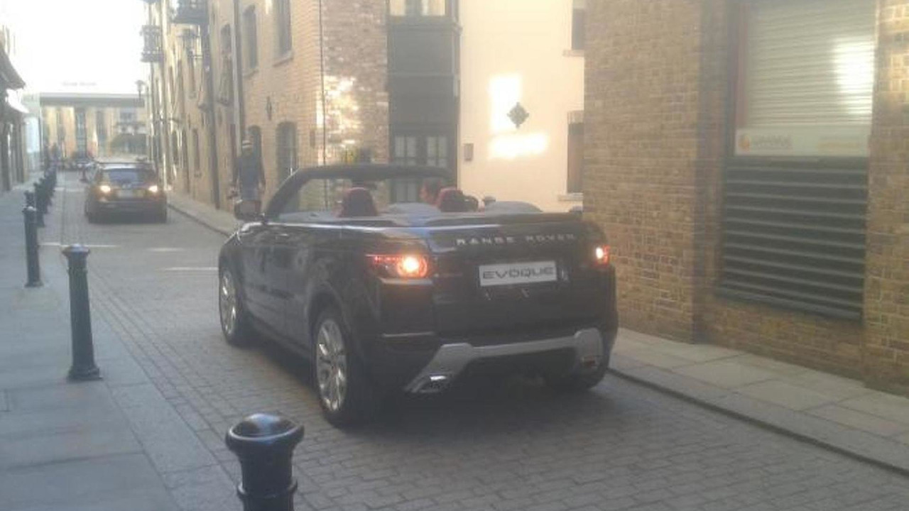 Land Rover Evoque Cabriolet Concept spotted in London