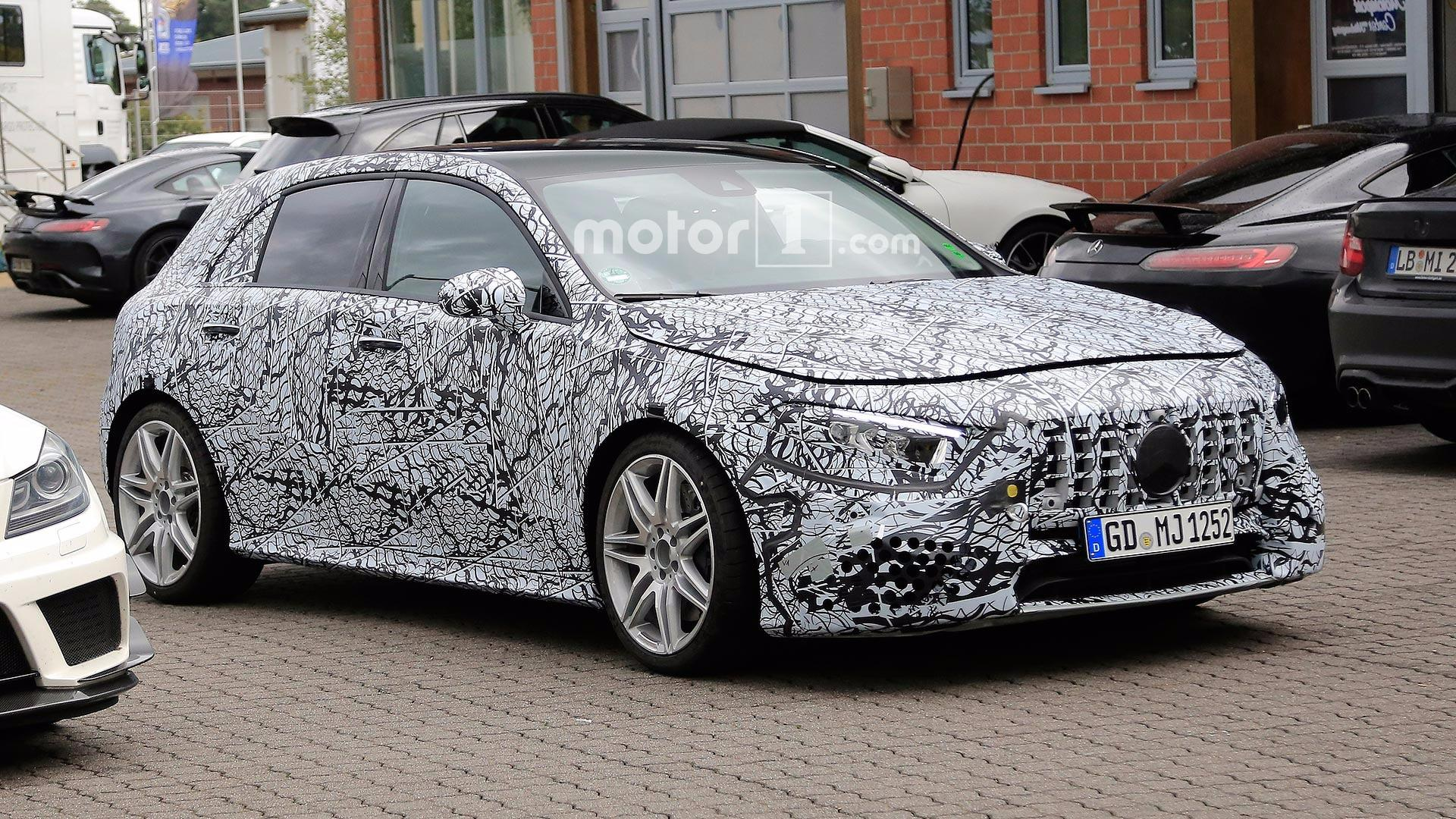 Next Gen Mercedes Amg A45 Spied Looking Smooth And Sporty