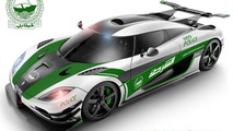 Koenigsegg One:1 Dubai Police car rendering / Santapanter
