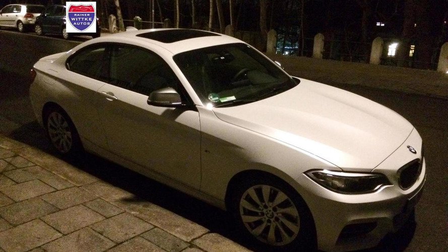 BMW M235i with Alpine White paintjob spotted in Germany
