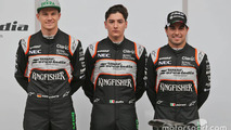 Sergio Perez, Sahara Force India F1, Alfonso Celis Jr., Sahara Force India F1 and Nico Hulkenberg, Sahara Force India F1