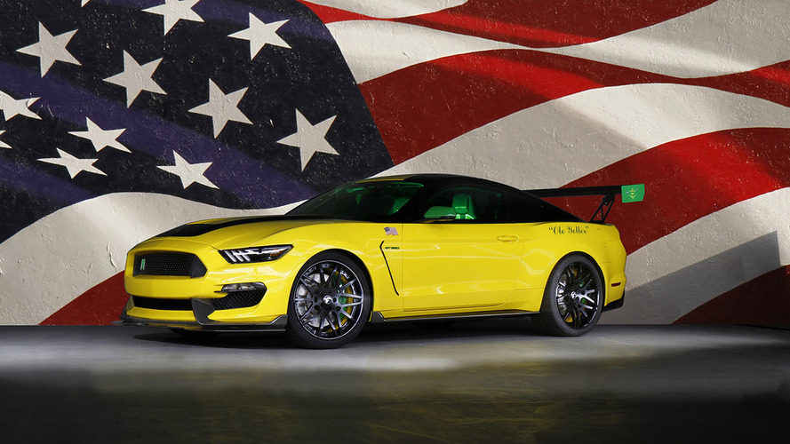 Custom Shelby GT350 Ole Yeller celebrates famous Mustang aircraft
