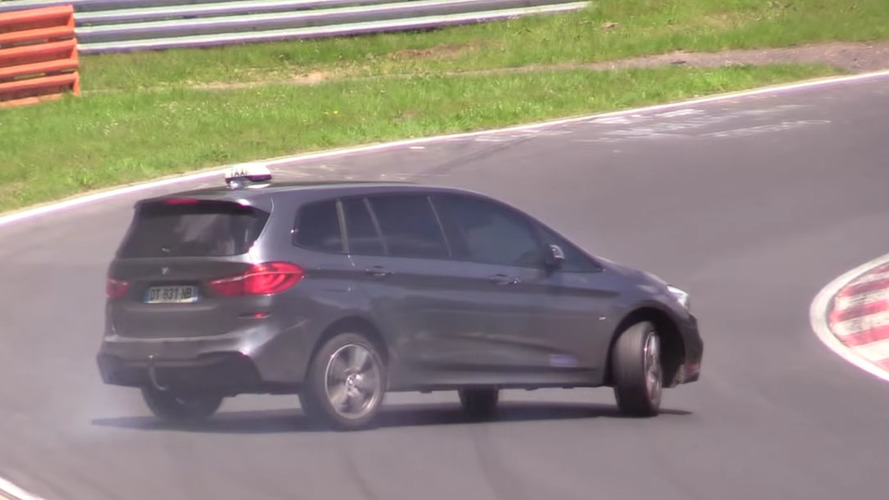 Epic drift almost makes BMW 2 Series Gran Tourer cool