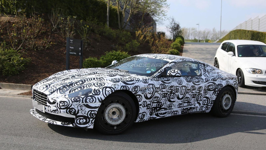 Aston Martin DB11 spied up close and on the Nurburgring