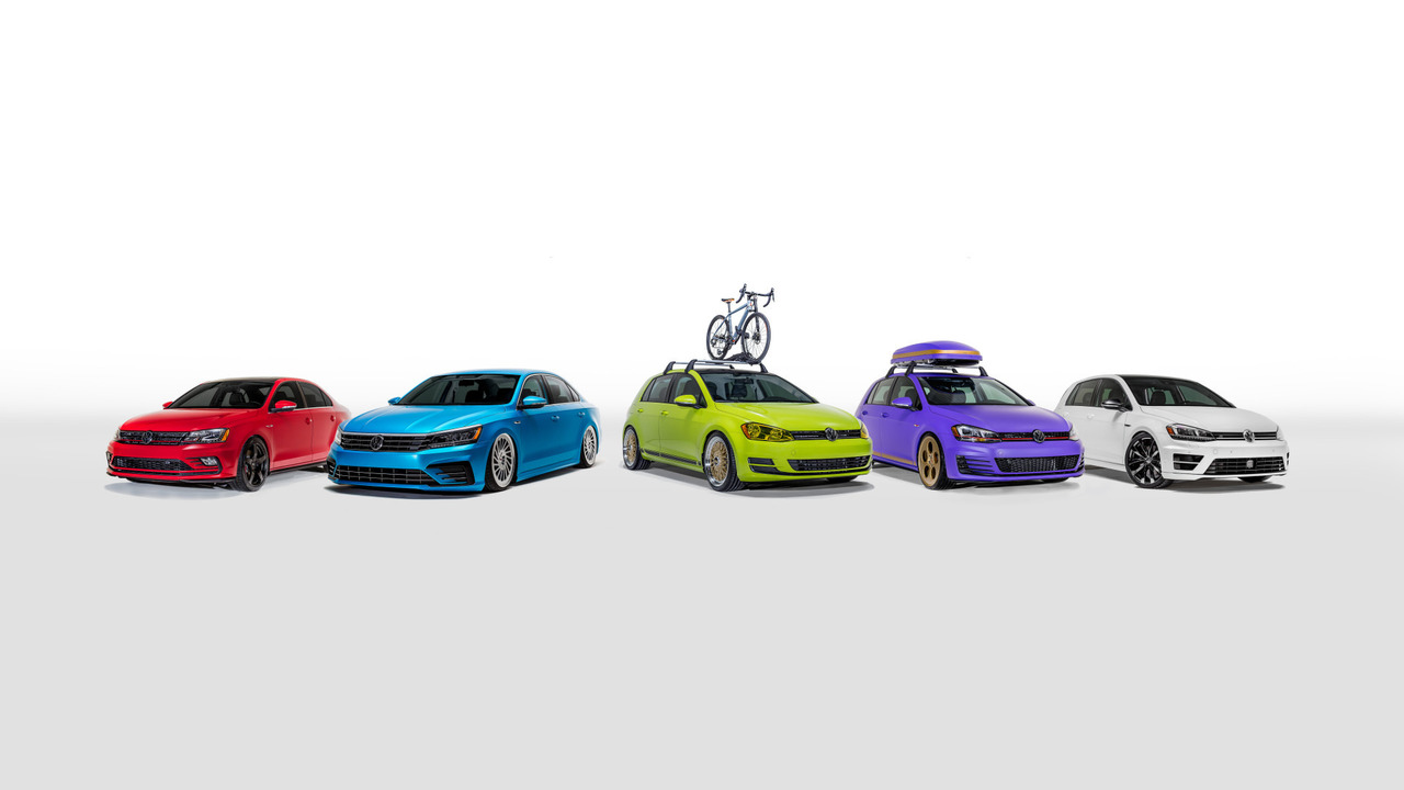 Volkswagen unveils five custom cars