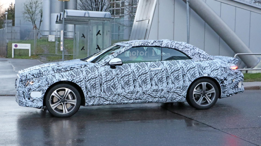 Mercedes E Class Convertible spied for the first time