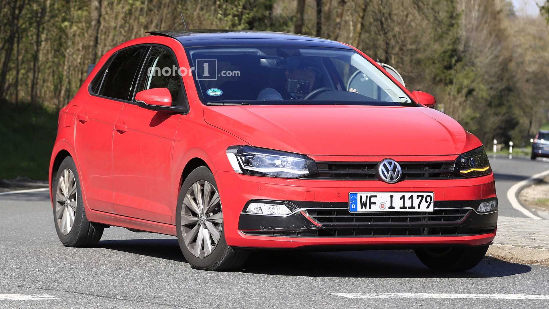 2018 vw polo spied with very little camouflage. Black Bedroom Furniture Sets. Home Design Ideas