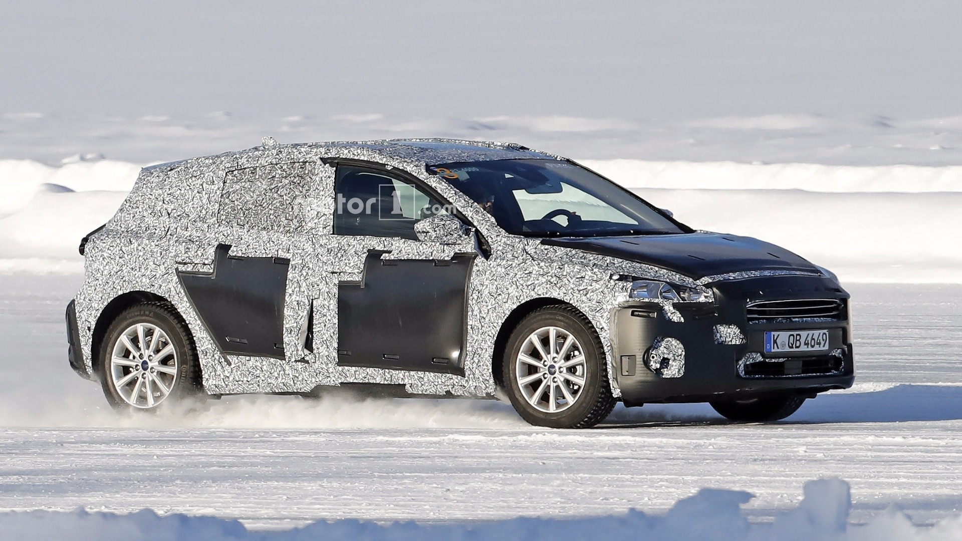 2018 ford focus prototype aka 39 paul 39 spied ice skating. Black Bedroom Furniture Sets. Home Design Ideas