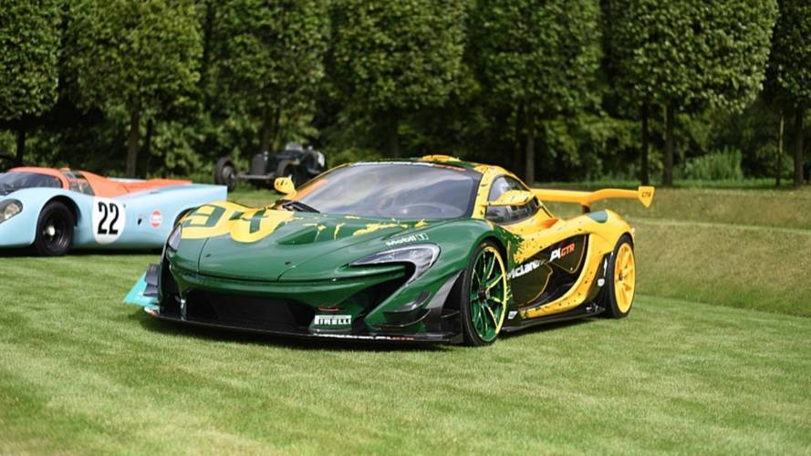 McLaren P1 GTR does cheeky donuts at countryside Concours
