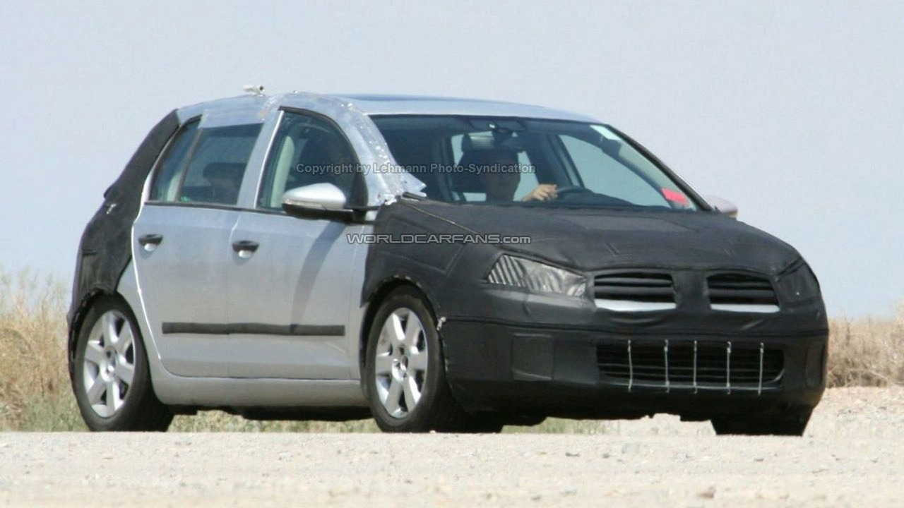 VW Golf VI 4-door spy photo