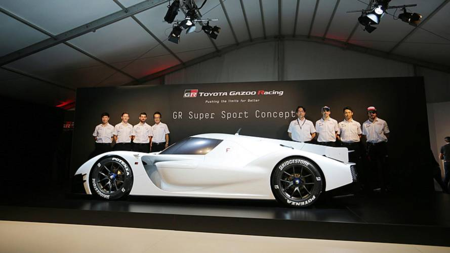 Toyota GR Super Sport Concept shown in hypercar metal at Le Mans