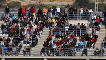 Fans watch the action in Valencia