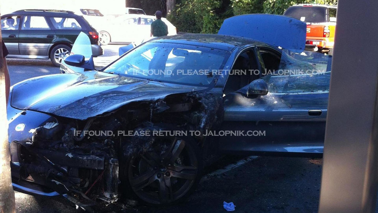 Burned Fisker Karma