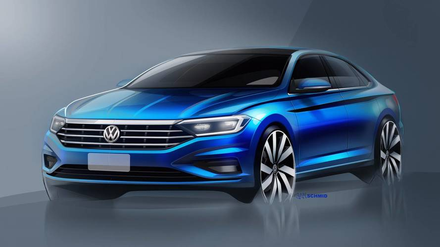 VW Teases 2019 Jetta In New Sketches, Including Interior