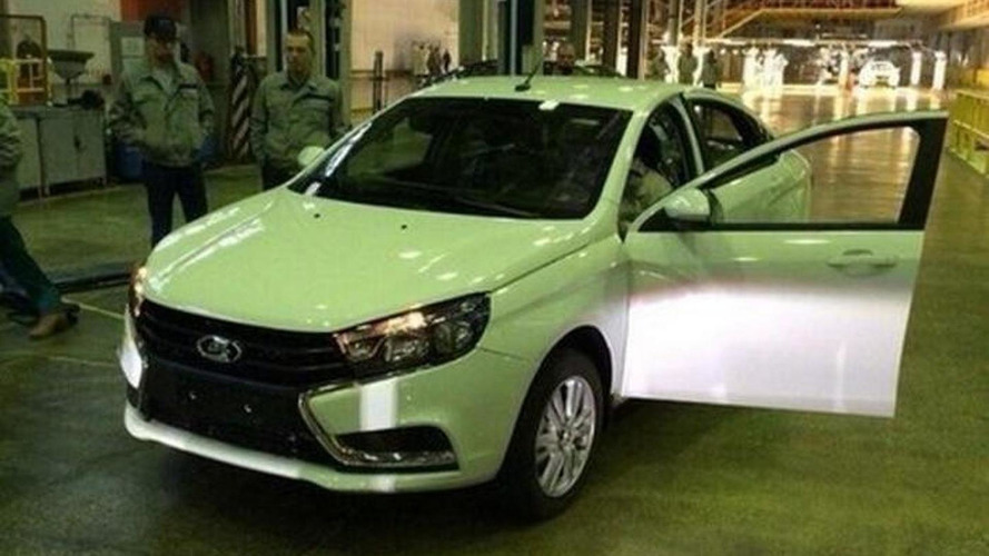 Lada Vesta photographed in production guise