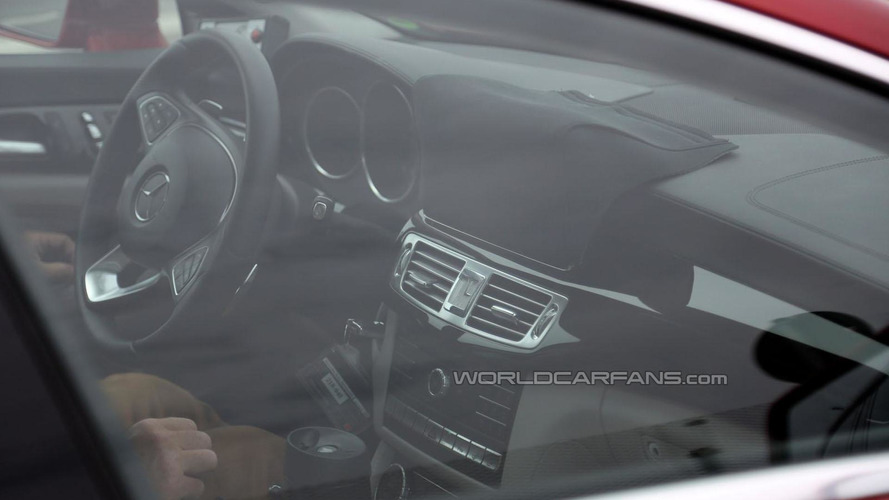 2015 Mercedes CLS spied inside & out virtually undisguised