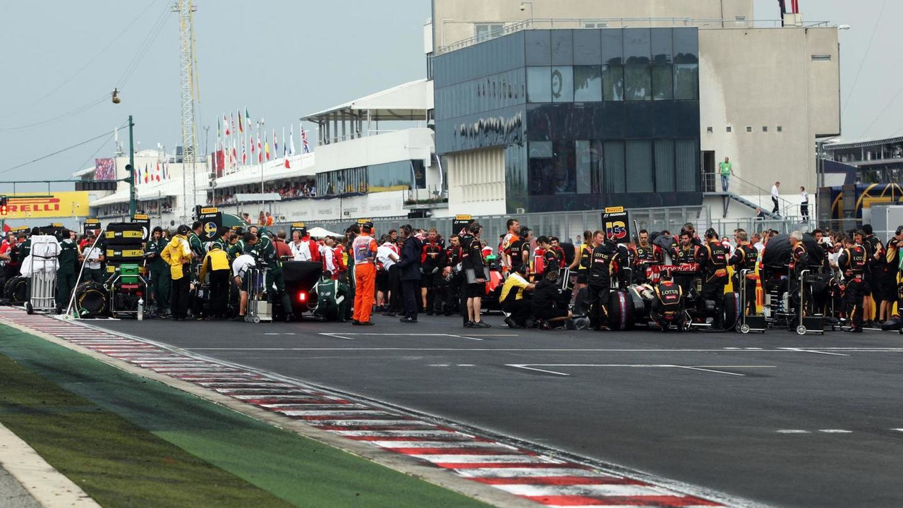 The grid before the start of the race, 27.07.2014, Hungarian Grand Prix, Budapest / XPB
