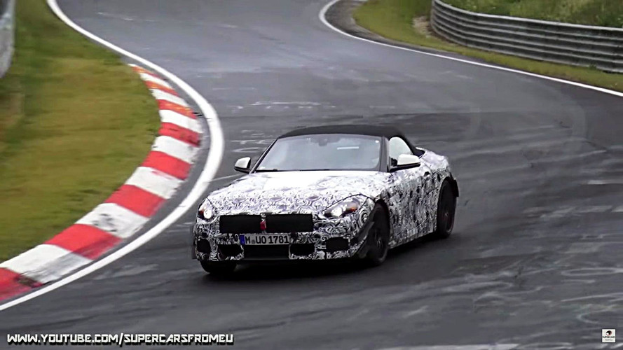 2018 BMW Z4 screenshots from spy video
