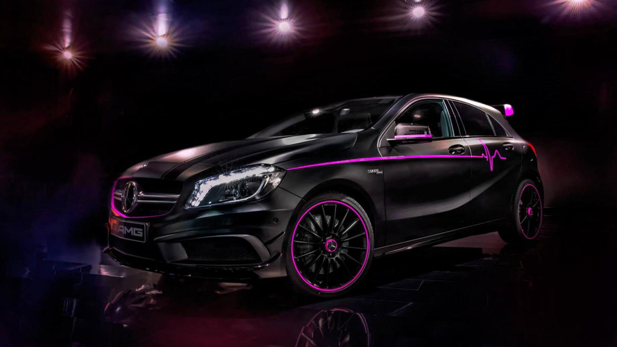 Mercedes A 45 AMG gets a pink makeover by the AMG Performance Studio