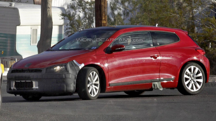 2014 Volkswagen Scirocco facelift spied in United States