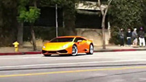 Lamborghini Huracan drifting commercial shoot screenshot