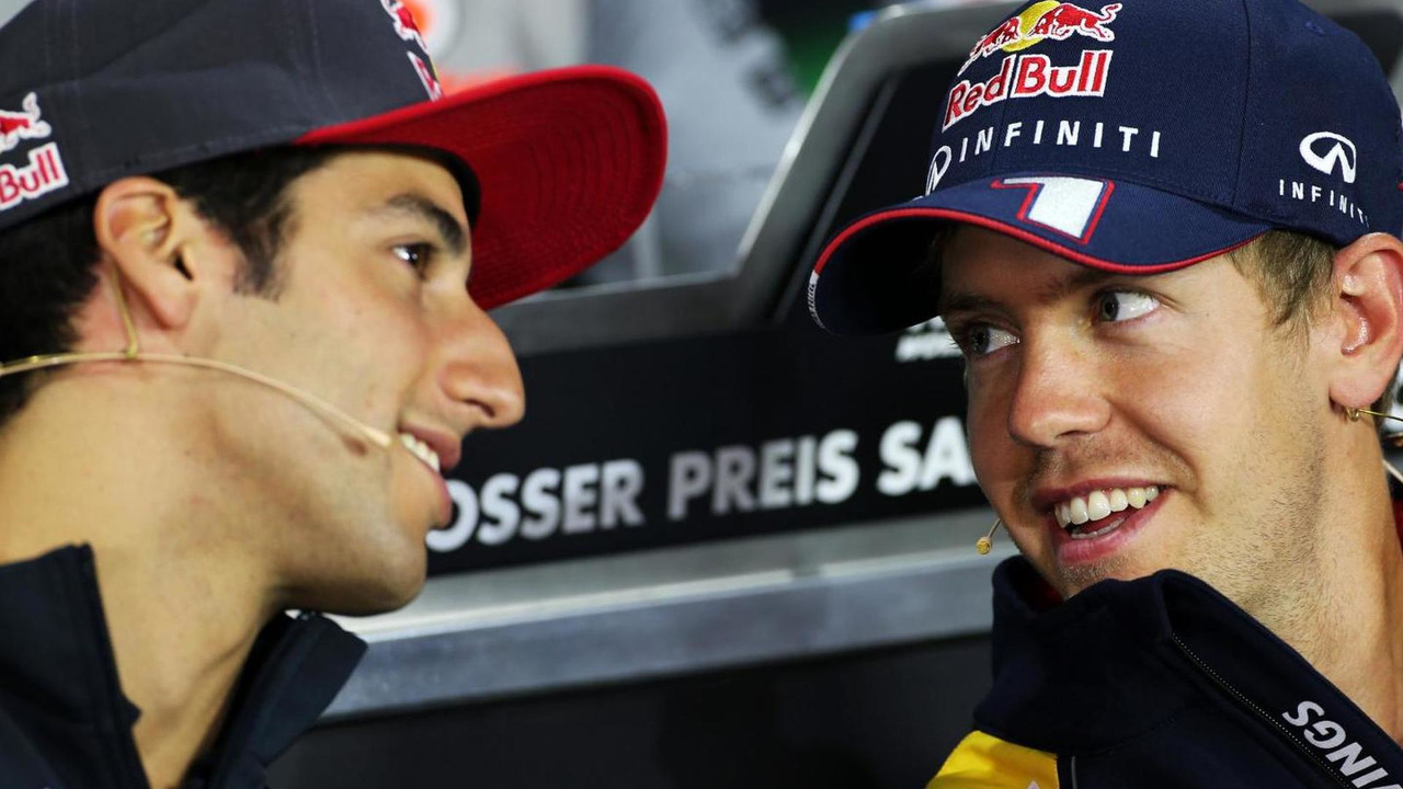 Daniel Ricciardo and Sebastian Vettel 04.07.2013 German Grand Prix