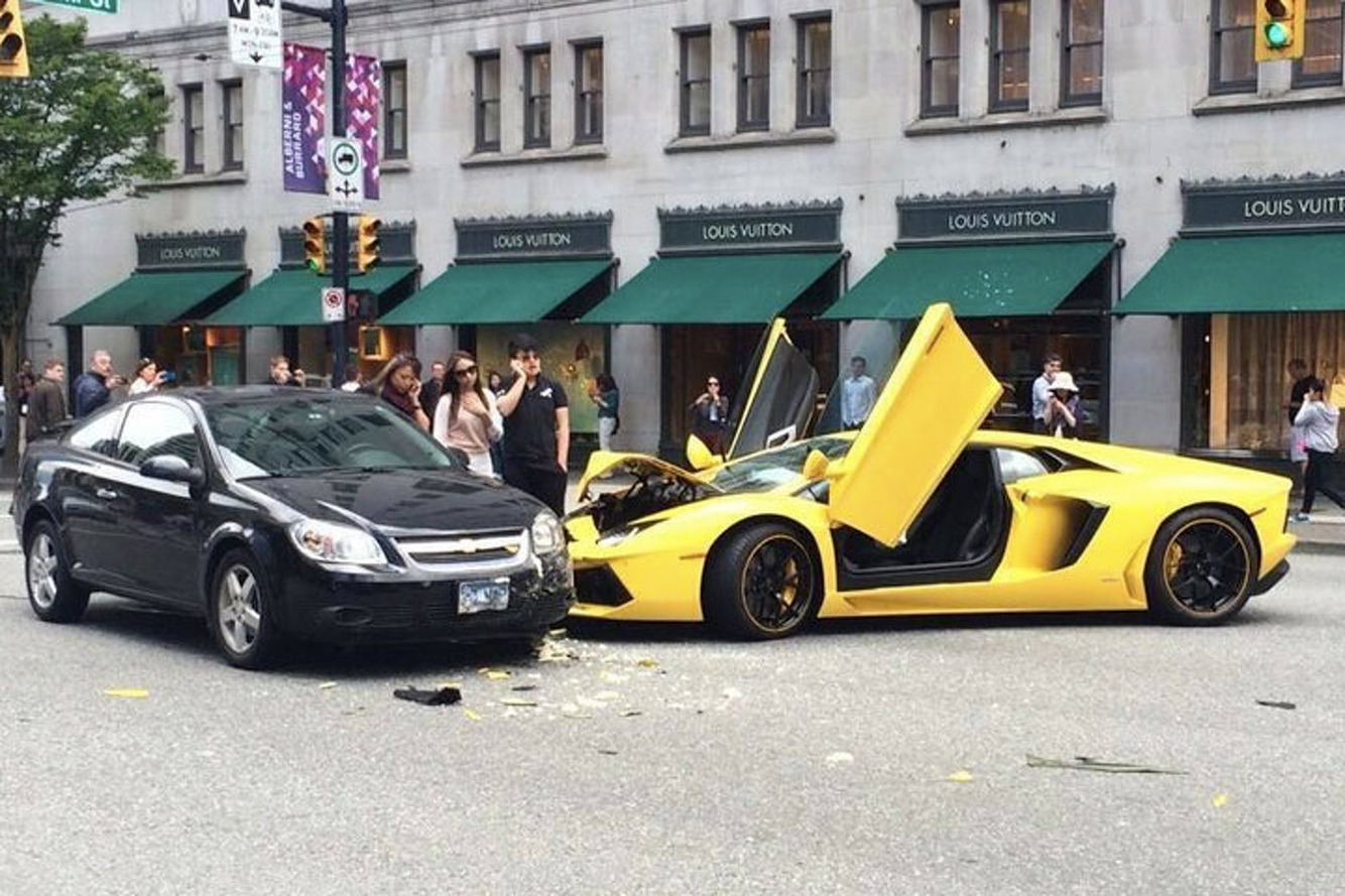 Smashed: Aventador vs. Cobalt in Vancouver